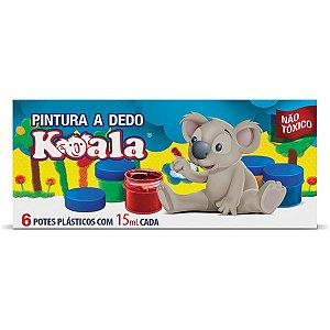 Tinta Pintura A Dedo 06 Cores 15Ml Koala Delta