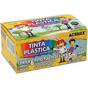 Tinta Plastica 06 Cores 15Ml Acrilex