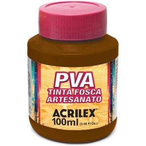 Tinta Pva Marrom 100Ml. Acrilex