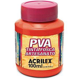 Tinta Pva Vermelho Fogo 100Ml. Acrilex