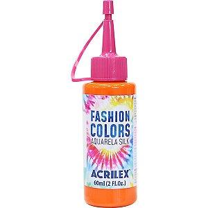 Tinta Tecido Aquarela Silk Fashion Colors Laranja 60Ml Acrilex