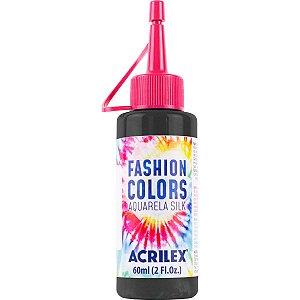 Tinta Tecido Aquarela Silk Fashion Colors Preto 60Ml Acrilex