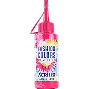 Tinta Tecido Aquarela Silk Fashion Colors Rosa 60Ml Acrilex