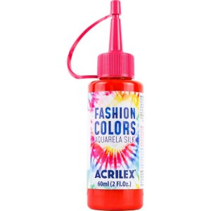 Tinta Tecido Aquarela Silk Fashion Colors Verm.fogo 60Ml Acrilex