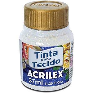 Tinta Tecido Com Gliter Cristal 37Ml. Acrilex