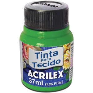 Tinta Tecido Fluorescente Verde 37Ml. Acrilex