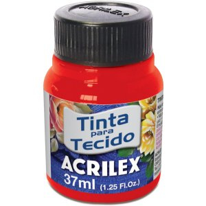 Tinta Tecido Fluorescente Vermelho 37Ml. Acrilex