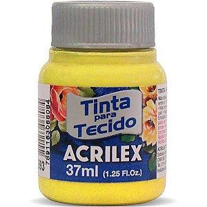 Tinta Tecido Fosca 037Ml Amarelo Canario Acrilex