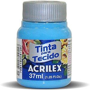 Tinta Tecido Fosca 037Ml Azul Celeste Acrilex