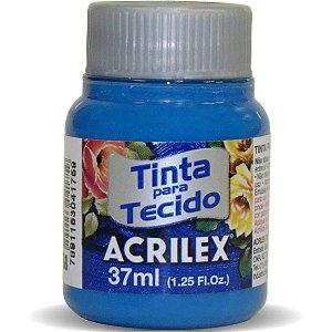 Tinta Tecido Fosca 037Ml Azul Ceruleo Acrilex