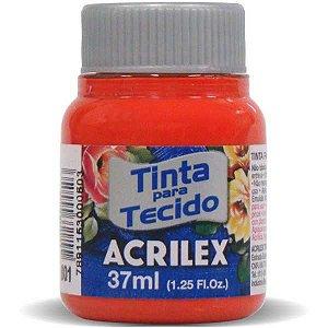 Tinta Tecido Fosca 037Ml Tangerina Acrilex