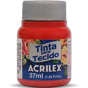 Tinta Tecido Fosca 037Ml Vermelho Escarlate Acrilex