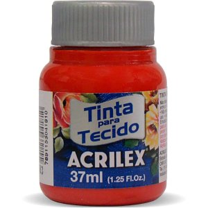 Tinta Tecido Fosca 037Ml Vermelho Tomate Acrilex