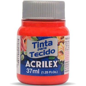 Tinta Tecido Fosca 037Ml Vermelho Vivo Acrilex
