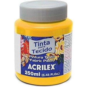 Tinta Tecido Fosca 250Ml Amarelo Ouro Acrilex