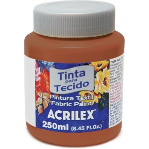 Tinta Tecido Fosca 250Ml Marron Acrilex
