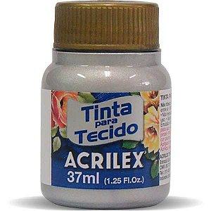Tinta Tecido Metalica Prata 37Ml. Acrilex