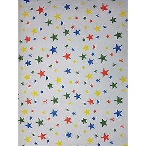Tnt Estampado 1,40M 40G Estrelas Coloridas Supper