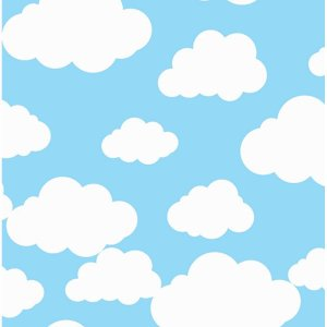 Tnt Estampado 1,40M 40G Nuvem Baby Azul Supper
