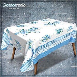 Toalha Ecotermica Floral Azul 1,40 X 30M. Plastvinil