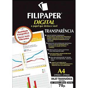 Transparencia Inkjet Inkjet A-4 C/tarja Removivel Filiperson