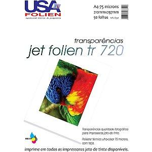 Transparencia Inkjet Jet Folien A4 75Mc Tarja Remov Usa Folien