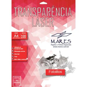 Transparencia Laserjet A4 210X297Mm. Sem Tarja Mares