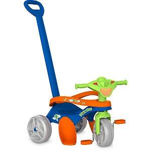 Triciclo Mototico Passeio/pedal Azul Brinq. Bandeirante