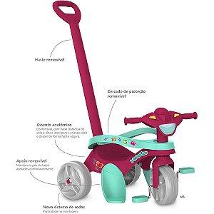 Triciclo Mototico Passeio/pedal Rosa Brinq. Bandeirante