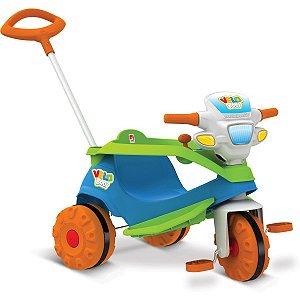 Triciclo Velobaby Passeio E Pedal Brinq. Bandeirante