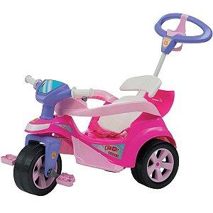 Veiculo Para Bebe Baby Trike Evolution Rosa Biemme