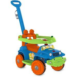 Veiculo Para Bebe Babyjipe Passeio/andador Azul Brinq. Bandeirante
