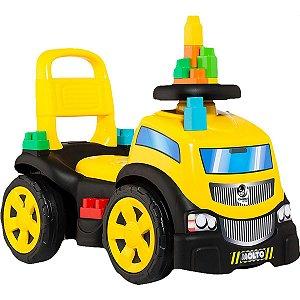 Veiculo Para Bebe Blocks Truck Menino C/10Blocos Cardoso Toys