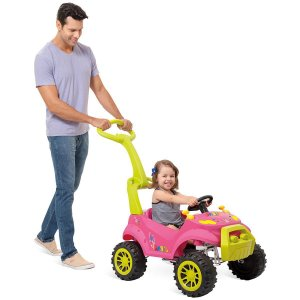 Veiculo Para Bebe Smart Passeio/pedal Rosa Brinq. Bandeirante