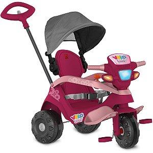 Veiculo Para Bebe Velobaby Reclinavel Pink Brinq. Bandeirante