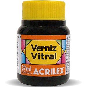 Verniz Vitral Laranja 37Ml. Acrilex