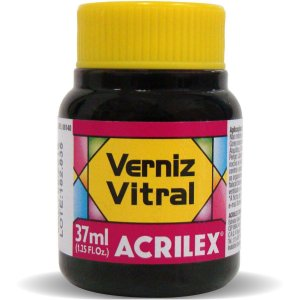 Verniz Vitral Rosa 37Ml. Acrilex