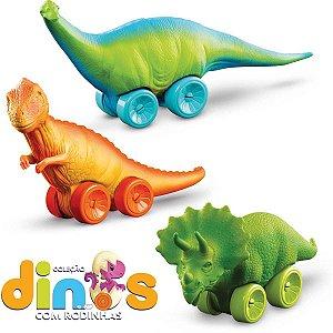 Brinquedo Para Bebê Dinos Com Rodinha Sortidos Roma