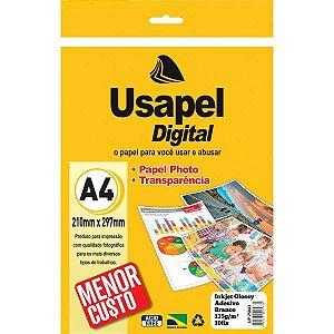 Papel Fotografico Inkjet Usapel Glossy Adesivo A4 135G. Filiperson