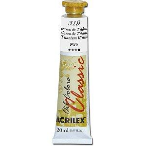 Tinta A Oleo Para Telas Branco De Titanio 20Ml Acrilex