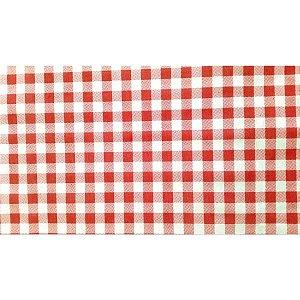 Tnt Estampado 1,40M 40G Xadrez Branco/vermelho Supper