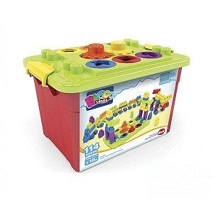 Brinquedo Para Montar Super Caixa Educatva 114 Pecas Dismat