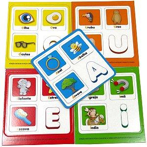 Brinquedo Pedagógico Vogais 20 Pecas Coluna