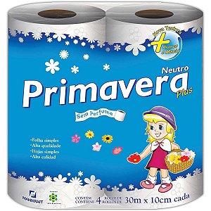 Papel Higienico Primavera Fl Simples 30 M 16X4 Manikraft