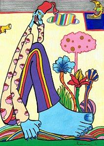 """Print """"Abaporu em Pepperland"""" - Luana Bandeira"""