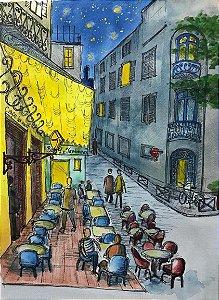 """Print """"Terraço do Café, 120 anos depois"""" - Luana Bandeira"""