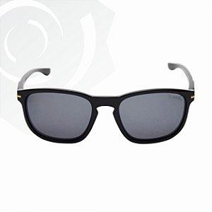 Óculos De Sol Cult Preto Brilhante Lente Preta Di Fiori 24817