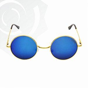 Óculos De Sol Peace Dourado Di Fiori 24611