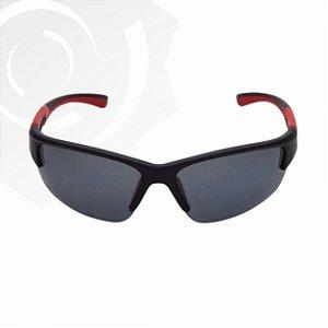 Óculos De Sol Cobra Preto Vermelho Di Fiori 23955