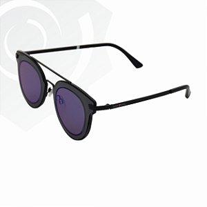 Óculos De Sol Kitty Preto Com Azul Black Skull 24633